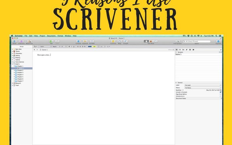 5 Reasons I Use Scrivener